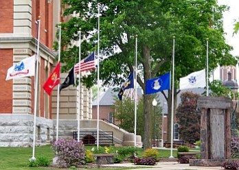 Flags at half mast_CourtHouse