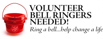 Salvation Army Red Kettle Bell Ringers needed