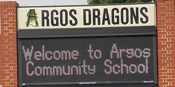 Argos Schools sign