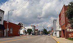 Bourbon_downtown street scene