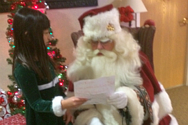 Miller's_Savannah Teter with Santa 2017