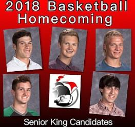 2018 Basketball Homecoming King Ballot