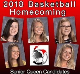 2018 Basketball Homecoming Queen Ballot