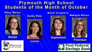PHS Students of the Month of October2017