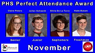 PHS_Nov. 2017 PHS Attendance Award Winners