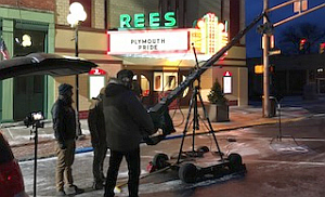 Rees Theatre filming commercial 1-23-18