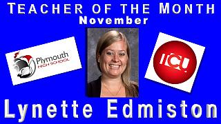 Teacher of the Month Nov. - Lynette Edmiston2017