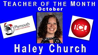 Teacher of the Month October - Haley Church2017