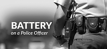 Battery to police officer