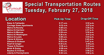 Special Bus Routes