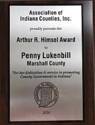 Penny Lukenbill HImsel Award_plaque