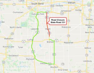 road closure 331 9-23