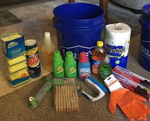 Hurricane Relief_cleaning bucket