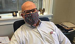 Mayor Mark in a mask